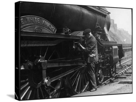Locomotive Maintenance--Stretched Canvas Print