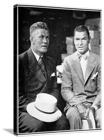 Jack Dempsey and Gene Tunney, 1926--Stretched Canvas Print