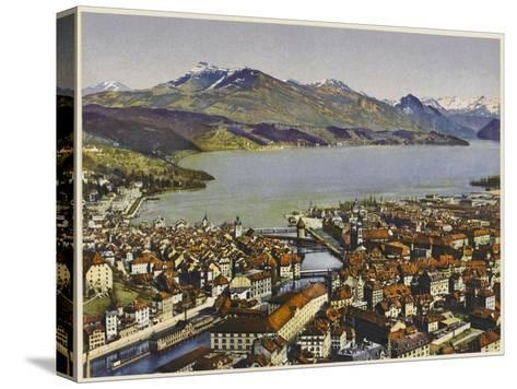 Lucerne: Vierwaldstattersee and the Rigi--Stretched Canvas Print