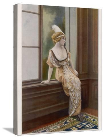 Mlle Yane's Gown 1913--Stretched Canvas Print