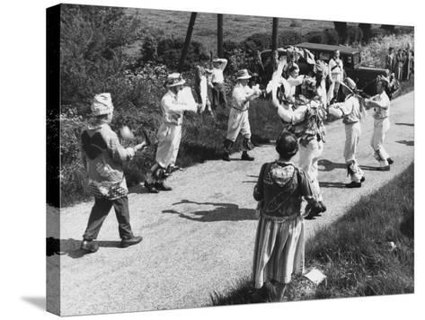 Morris Dancing--Stretched Canvas Print