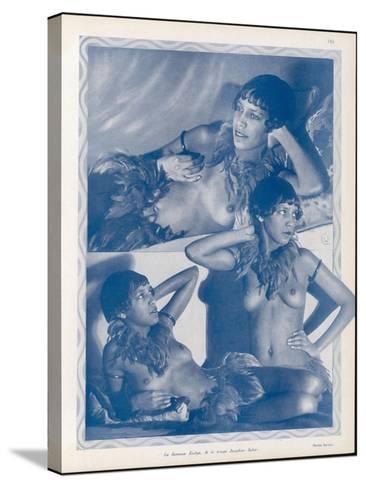 Josephine Baker Folies Bergere Dancer--Stretched Canvas Print