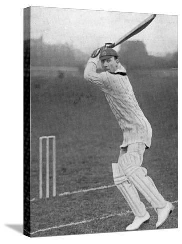 J.B. Hobbs Batting, 1924--Stretched Canvas Print