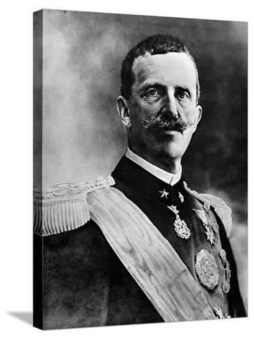 King Victor Emmanuel III--Stretched Canvas Print
