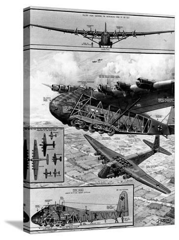 Me.323 'Gigant' Transport Glider; Second World War, 1944--Stretched Canvas Print
