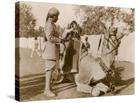 In India During the Raj, There Was No Need for Children to Go to a Zoo for a Camel Ride--Stretched Canvas Print