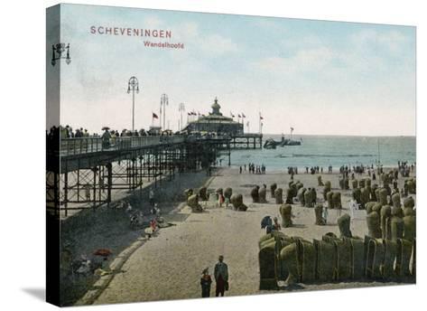 Scheveningen: Beach and Pier--Stretched Canvas Print
