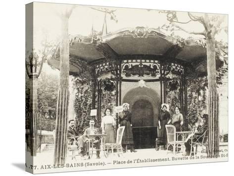 Refreshment Bar (Tap Room) of the Source De St. Simon - Aix-Les-Bains (Savoie), France--Stretched Canvas Print