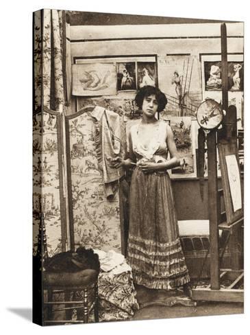 Parisian Prostitute--Stretched Canvas Print