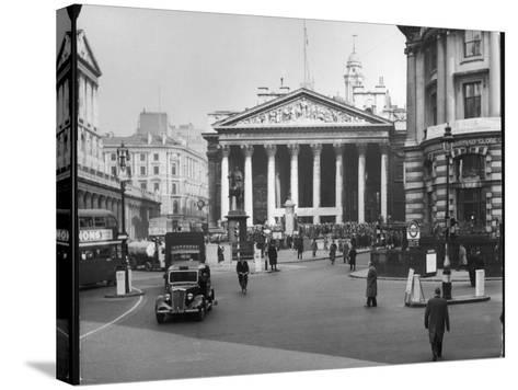 Royal Exchange 1950s--Stretched Canvas Print