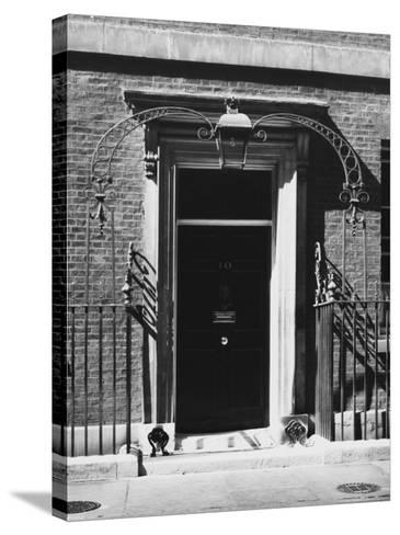 No 10 Downing Street Doorway--Stretched Canvas Print