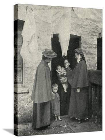 Salvation Army Slum Sisters on a Home Visit-Peter Higginbotham-Stretched Canvas Print