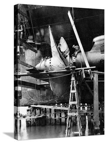 Propellor of R.M.S. Queen Mary, September 1934--Stretched Canvas Print
