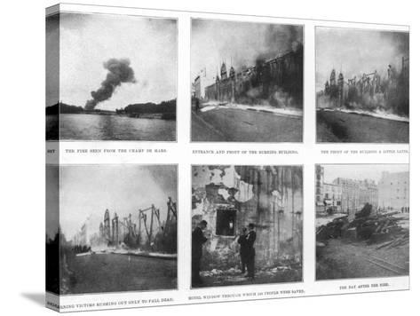 Scenes from the Devastating Fire at the Bazar De La Charite in Paris--Stretched Canvas Print