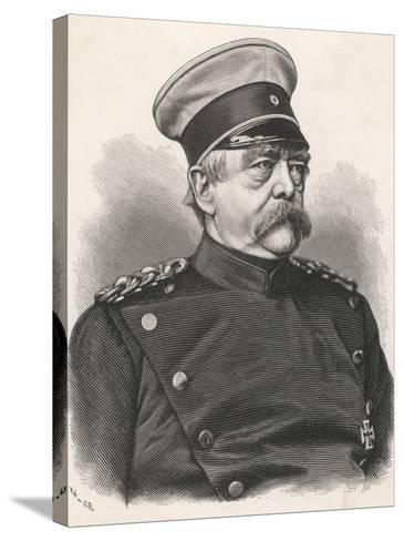 Otto Von Bismarck German Statesman, in 1885 Wearing Uniform--Stretched Canvas Print