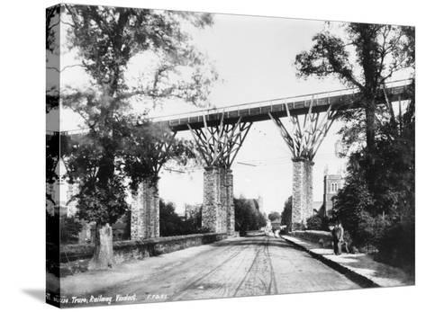 Railway Viaduct, Truro, Cornwall--Stretched Canvas Print