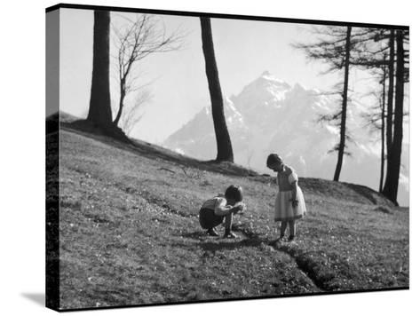 Romania Children--Stretched Canvas Print