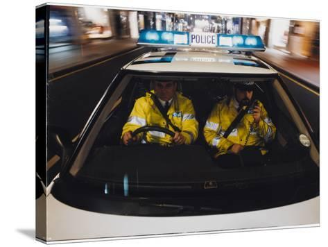 Police Car Chase 1991--Stretched Canvas Print