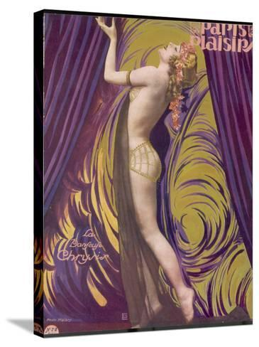 Showgirl and Dancer Chrysis, on a Beautiful Front Cover Design--Stretched Canvas Print