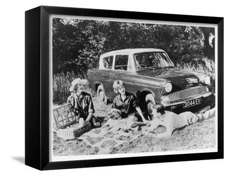 Picnic in the Country--Framed Canvas Print