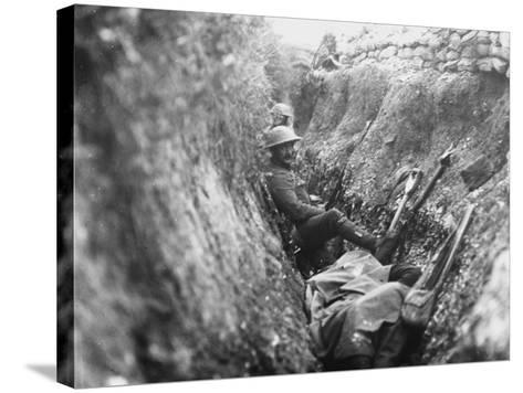 Somme Trench 1916-Robert Hunt-Stretched Canvas Print