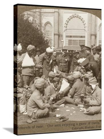 Soldiers Relaxing WWI--Stretched Canvas Print