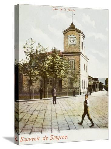 Railway Station (Gare De La Pointe) at Izmir (Smyrne), Turkey--Stretched Canvas Print