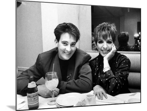 Country/Western Singer KD Lang with Actress Liza Minnelli at a Party to Celebrate Lang's Concert--Mounted Premium Photographic Print