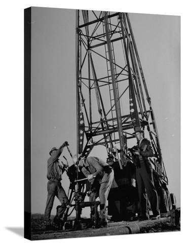 Phillips Petroleum Company Employees, Members of the Phillips 66 Champion Amateur Team, Working-Cornell Capa-Stretched Canvas Print