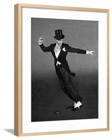 "Fred Astaire in Top Hat, Tails and Spats, Dancing ""Puttin' on the Ritz"" for ""Blue Skies""-Bob Landry-Framed Art Print"