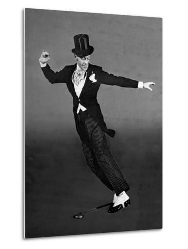"Fred Astaire in Top Hat, Tails and Spats, Dancing ""Puttin' on the Ritz"" for ""Blue Skies""-Bob Landry-Metal Print"