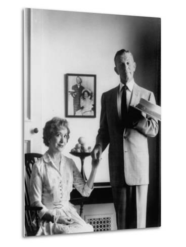 Comedian George Burns with Wife, Comedian Gracie Allen, in a Still for their TV Series-Allan Grant-Metal Print