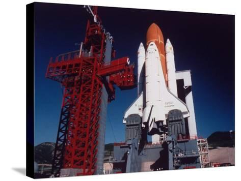 Space Shuttle Enterprise Sitting on Launch Pad at Vandenberg Space Shuttle Complex--Stretched Canvas Print