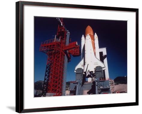 Space Shuttle Enterprise Sitting on Launch Pad at Vandenberg Space Shuttle Complex--Framed Art Print