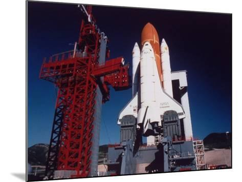 Space Shuttle Enterprise Sitting on Launch Pad at Vandenberg Space Shuttle Complex--Mounted Premium Photographic Print