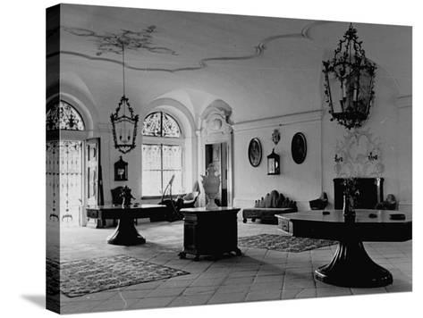 A View Showing the Entrance Hall at Leopoldskron, the Home of Max Reinhardt-John Phillips-Stretched Canvas Print