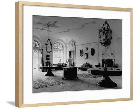 A View Showing the Entrance Hall at Leopoldskron, the Home of Max Reinhardt-John Phillips-Framed Art Print