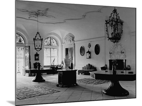 A View Showing the Entrance Hall at Leopoldskron, the Home of Max Reinhardt-John Phillips-Mounted Premium Photographic Print