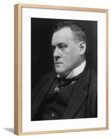 British Author and Historian Hilaire Belloc, Photographed by E. O. Hoppe-E.O. Hoppe-Framed Art Print