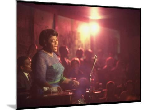 "Jazz Singer Ella Fitzgerald Performing at ""Mr. Kelly's"" Nightclub-Yale Joel-Mounted Premium Photographic Print"