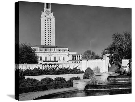 A View Showing the Exterior of the Texas University-Carl Mydans-Stretched Canvas Print