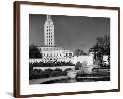 A View Showing the Exterior of the Texas University-Carl Mydans-Framed Art Print