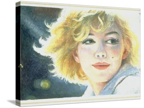 Mock-Up of Possible Stamp Honoring Actress Marilyn Monroe--Stretched Canvas Print