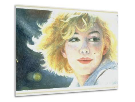Mock-Up of Possible Stamp Honoring Actress Marilyn Monroe--Metal Print