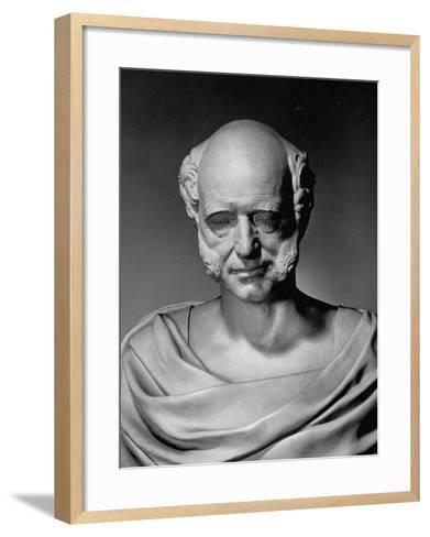 A View of a Life Mask of Martin Van Buren-Bernard Hoffman-Framed Art Print
