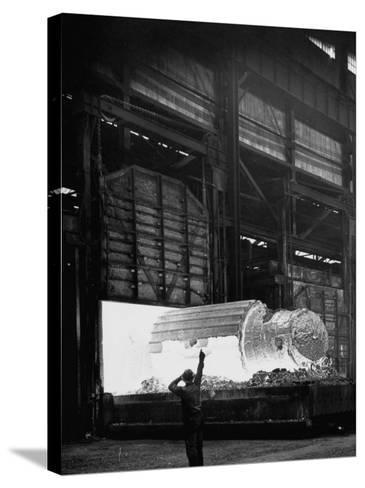 Manufacture of Steel-Fritz Goro-Stretched Canvas Print