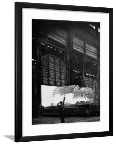 Manufacture of Steel-Fritz Goro-Framed Art Print