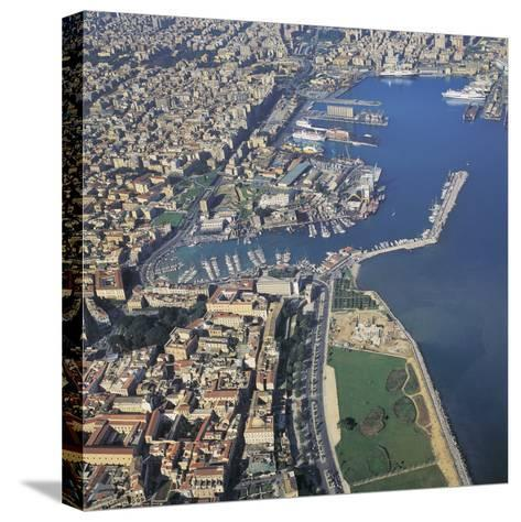 Aerial View of Buildings in a City, Palermo, Sicily, Italy--Stretched Canvas Print