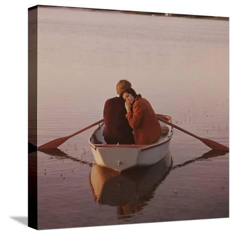 Couple in Rowboat-Dennis Hallinan-Stretched Canvas Print