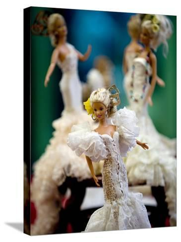 One of the two hundred Barbie dolls dressed in traditional flamenco outfits--Stretched Canvas Print